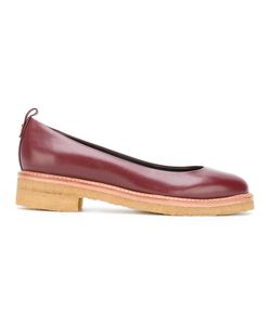 Lanvin | Low Heel Loafers Womens Size 37 Calf Leather/Leather/Rubber