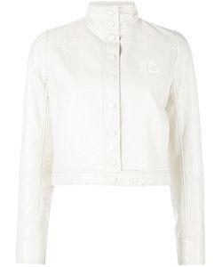 Courrèges | Vynil Jacket Womens Size 38 Cotton/Polyurethane/Acetate/Cupro