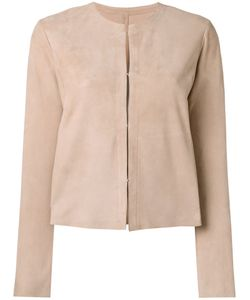 Drome | Collarless Jacket Womens Size Small Goat Suede