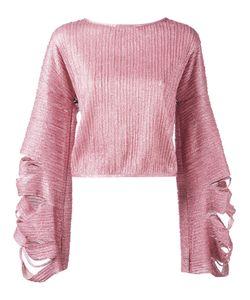 Aviù | Slit Fla Longsleeves Blouse Size 42 Cotton/Elastodiene/Polyamide/Polyester