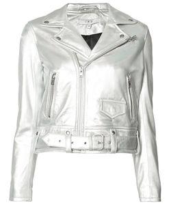 Iro | Cropped Biker Jacket Womens Size 36 Polyester/Lamb Skin