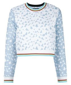 House Of Holland | Heart Jacquard Sweatshirt Womens Size 8 Cotton/Polyester/Polyamide