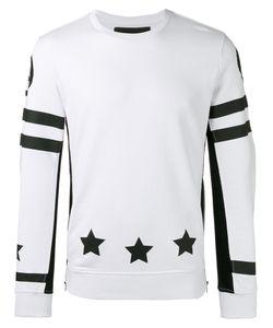 Hydrogen | Star Print Sweatshirt Mens Size Xl Cotton