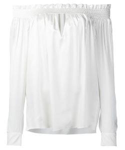 Alexandre Vauthier | Off Shoulder Ruffled Blouse Womens Size 40 Silk