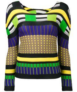 Issey Miyake Cauliflower | Colour Block Sweatshirt Womens Polyester