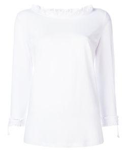 Twin-Set | Frill Boat Neck Sweatshirt Womens Size Small Cotton