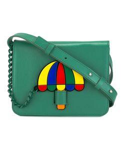 Yazbukey | Umbrella Patch Shoulder Bag Womens Leather/Polyamide