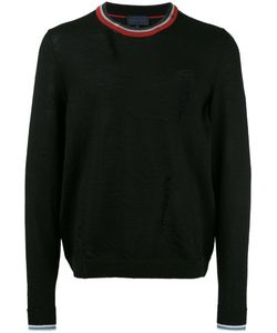 Lanvin | Distressed Crew Neck Jumper Mens Size Large Wool/Cotton