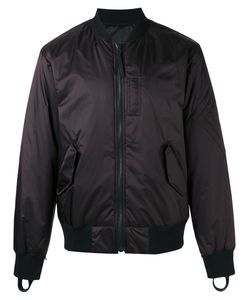 Helmut Lang | Reflective Reversible Bomber Jacket Mens Size Medium Nylon/Polyester/Polyurethane/Cotton
