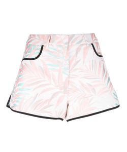 House Of Holland | Palm Leaf Shorts Womens Size 10 Polyester/Cotton