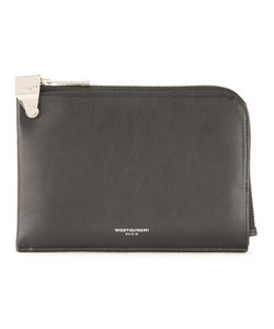 Wooyoungmi | Logo Print Zipped Wallet Mens Leather