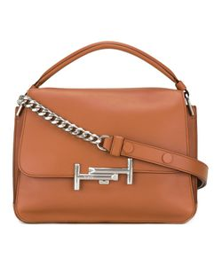 Tod's | Double T Shoulder Bag Womens Calf Leather/Polyester