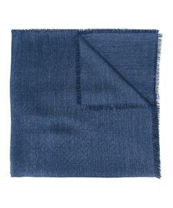 Canali | Frayed Edge Scarf Mens Silk