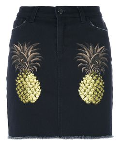 Giamba | Pineapple Skirt Womens Size 40 Cotton/Spandex/Elastane/Leather
