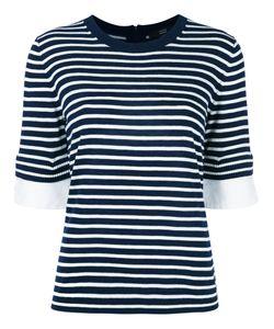 Steffen Schraut   Striped T-Shirt Womens Size 36 Viscose/Polyamide/Polyester/Cashmere