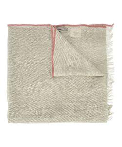 Uma Wang | Stripe Detail Scarf Mens Cotton