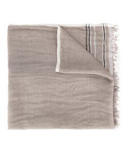 Brunello Cucinelli   Frayed Scarf Mens Linen/Flax