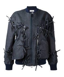 Facetasm | Tied Detail Bomber Jacket Womens Size 1 Cotton/Polyurethane/Tencel