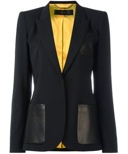 Barbara Bui | Classic Blazer Womens Size 38 Lamb Skin/Spandex/Elastane/Wool/Viscose