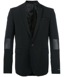 Les Hommes | Classic Blazer Mens Size 50 Polyester/Spandex/Elastane/Virgin Wool/Leather
