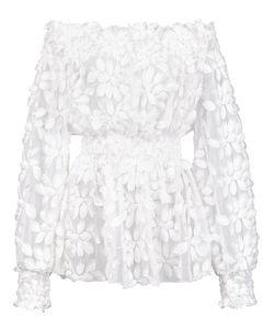 Christian Siriano | Gathe Petal Blouse Womens Size 8 Polyester