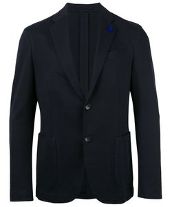 Lardini | Patch Pockets Blazer Mens Size 52 Cotton/Viscose/Cupro
