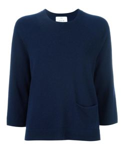 Allude | Cropped Sleeves Jumper Womens Size Medium Cashmere