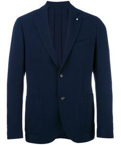 Lardini | Patch Pockets Blazer Mens Size 50 Wool/Viscose/Cupro