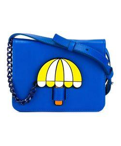Yazbukey | Umbrella Print Shoulder Bag Womens Leather/Polyamide