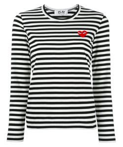 Comme Des Garçons Play | Striped Sweatshirt Womens Size Small Cotton