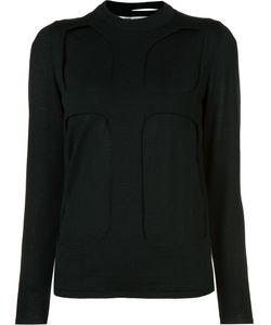 Comme Des Garçons | Cut-Out Jumper Womens Size Medium Wool