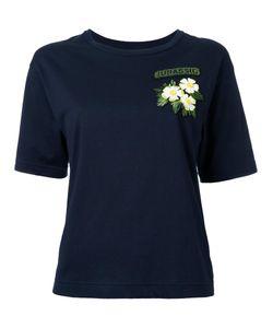 Muveil   Flower Patch T-Shirt Womens Size 38 Cotton