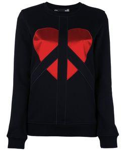 Love Moschino   Embroide Logo Sweatshirt Womens Size 44 Cotton/Polyester
