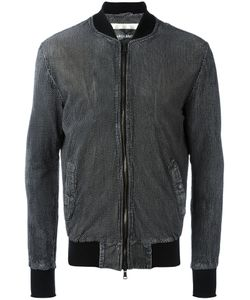 Giorgio Brato   Zipped Jacket Mens Size 52 Leather/Acetate/Polyester