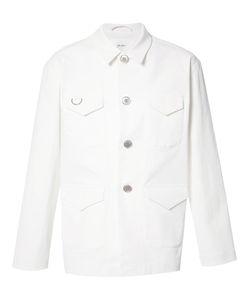 Julien David | Buttoned Jacket Mens Size Large Cotton/Polyurethane