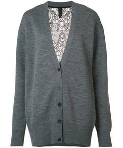 Vera Wang | Lace Back Cardigan Womens Size Small Nylon/Wool/Spandex/Elastane/Silk