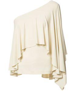 Plein Sud | Asymmetric Draped Top Womens Size 40 Rayon/Spandex/Elastane