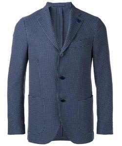 Lardini | Plaid Blazer Mens Size 46 Cotton/Viscose/Cupro