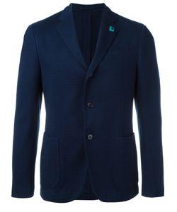 Lardini | Patch Pockets Blazer Mens Size 54 Cotton/Viscose/Cupro