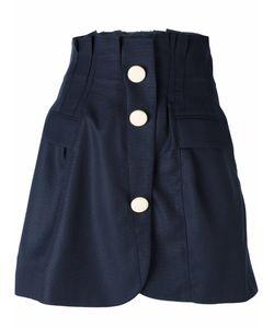 Jacquemus   Frayed Trim Button Up Skirt Womens Size 36 Virgin