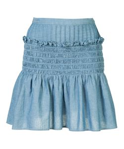 Sea | Frill Detail Skirt Womens Size 4 Acetate/Cotton