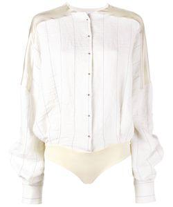 Esteban Cortazar | Stripe Shirt Body Womens Size 36 Viscose/Ramie/Linen/Flax/Spandex/Elastane