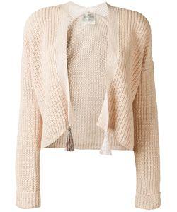 Forte Forte | Tassel Detail Open Cardigan Womens Size 0 Linen/Flax/Polyamide/Alpaca/Wool
