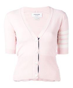 Thom Browne | Striped Trim Cardigan Womens Size 40 Cashmere