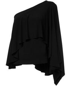 Plein Sud | Asymmetric Ruffle Blouse Womens Size 40 Viscose/Spandex/Elastane