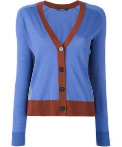 Odeeh | Contrast Detail V-Neck Cardigan Womens Size 38 Virgin Wool
