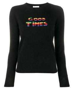 Bella Freud   Good Times Sweater Womens Size Large Wool/Cashmere/Metal/Nylon