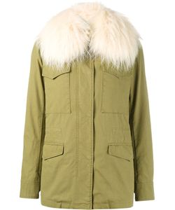 Army Yves Salomon | Raccoon Fur Trimmed Parka Jacket Womens Size 38