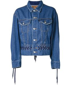G.V.G.V. | Denim Lace-Up Jacket Womens Size 34 Cotton