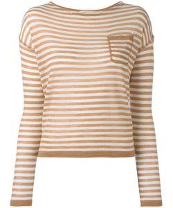 Barena   Striped Knitted Blouse Womens Size Medium Virgin Wool/Silk/Cashmere